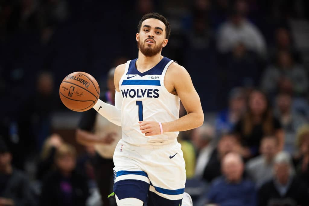 Tyus Jones of the Minnesota Timberwolves