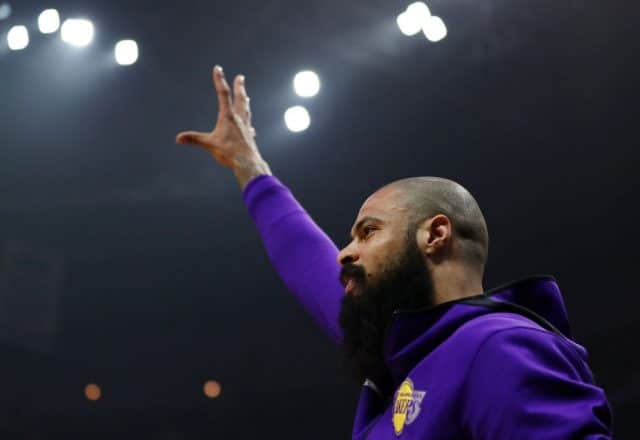 Tyson Chandler of the Los Angeles Lakers