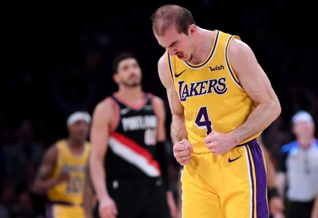 Alex Caruso of the Los Angeles Lakers