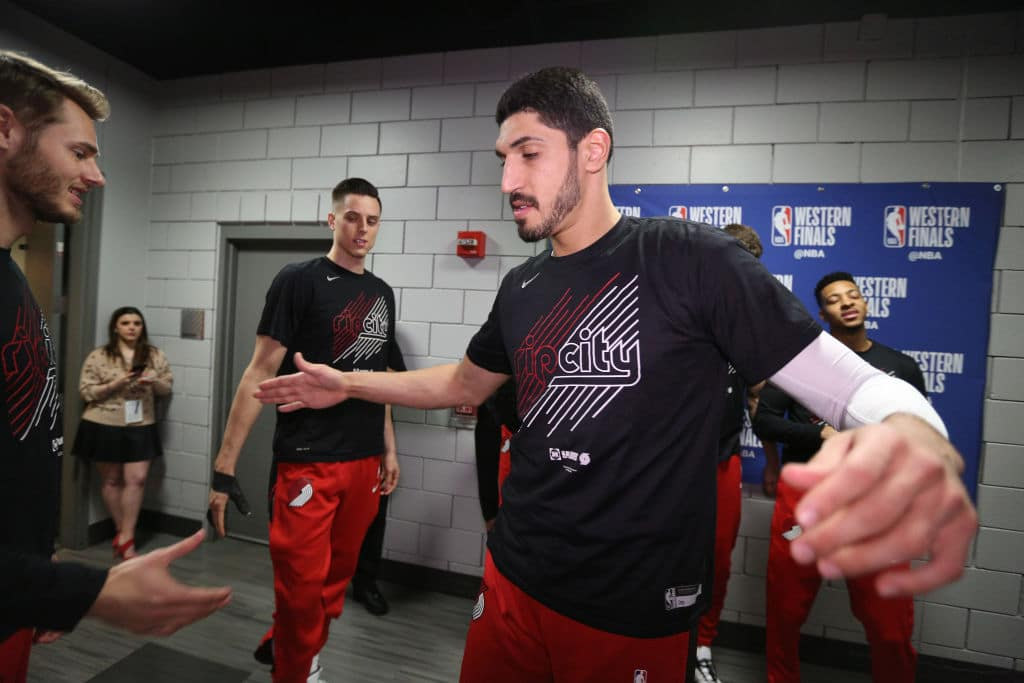 Enes Kanter of the Portland Trail Blazers