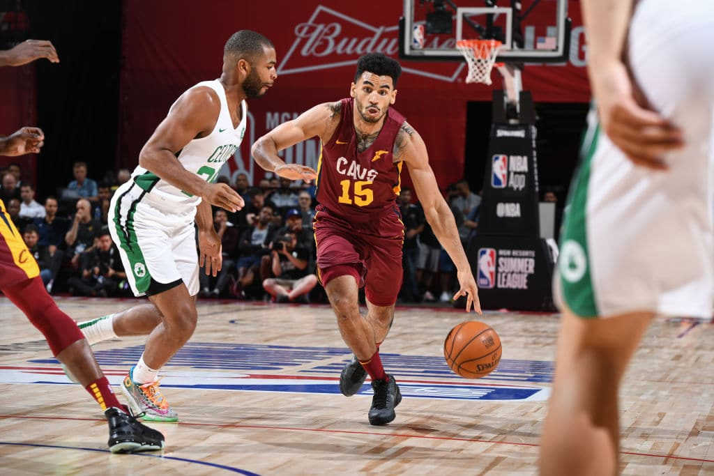 Naz Mitrou-Long of the Cleveland Cavaliers