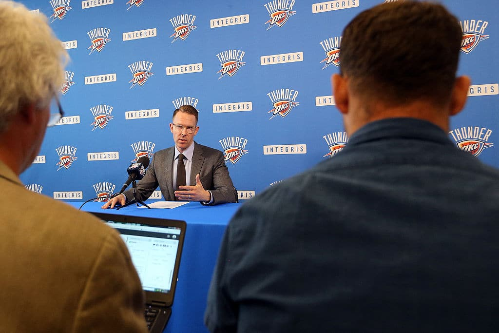 Sam Presti of the Oklahoma City Thunder