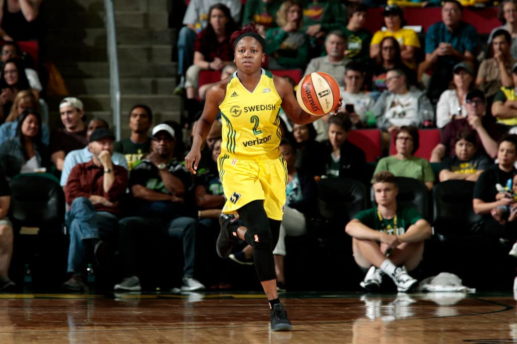Alexis Peterson of the Seattle Storm