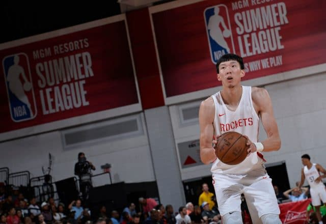 Zhou Qi of the Houston Rockets