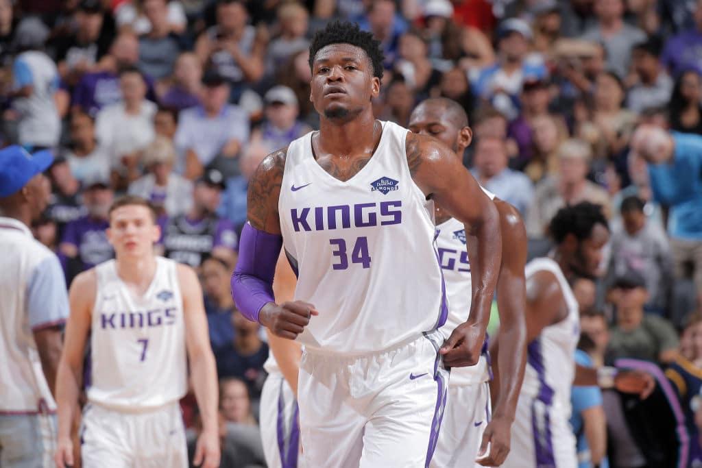 Marcus Derrickson of the Sacramento Kings