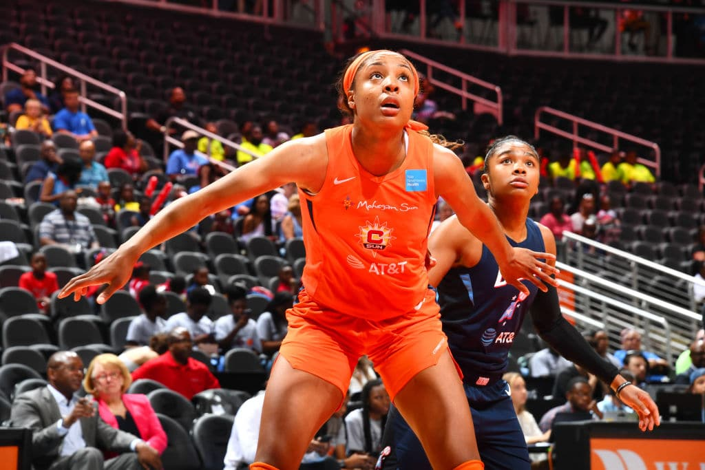 Kristine Anigwe of the Connecticut Sun