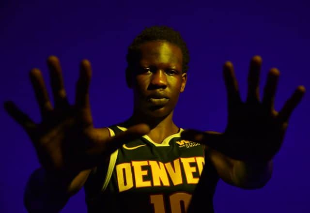 Bol Bol of the Denver Nuggets
