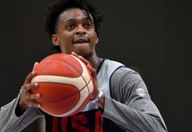 De'Aaron Fox of Team USA