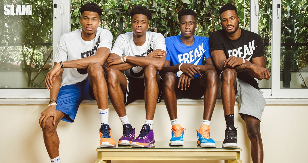 For The Family Giannis Antetokounmpo And His Brothers Built The Nike Freak 1