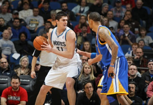 Darko Milicic of the Minnesota Timberwolves