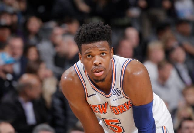 Dennis Smith Jr. of the New York Knicks