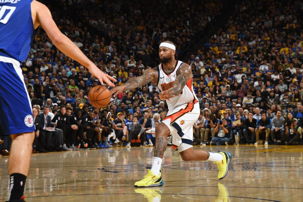DeMarcus Cousins of the Golden State Warriors