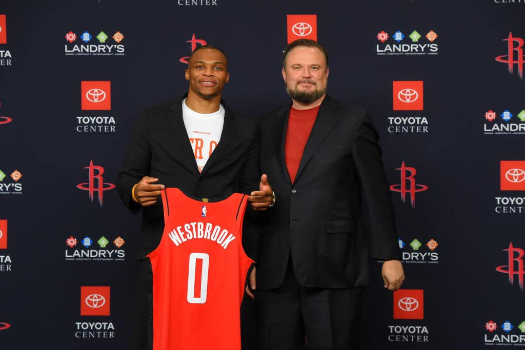 Daryl Morey, Russell Westbrook of the Houston Rockets