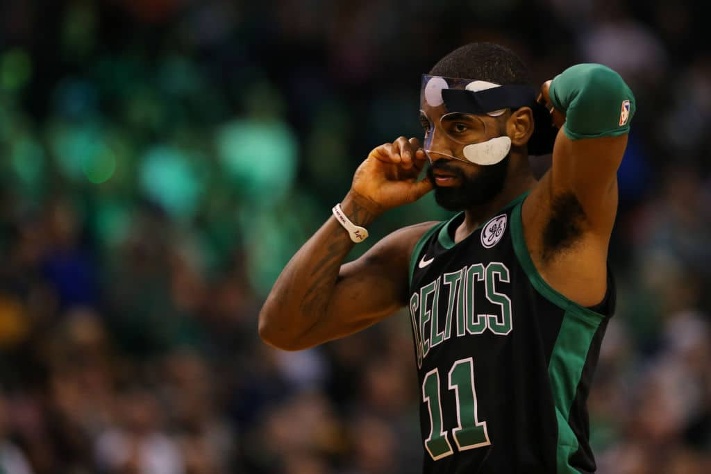 Kyrie Irving of the Boston Celtics