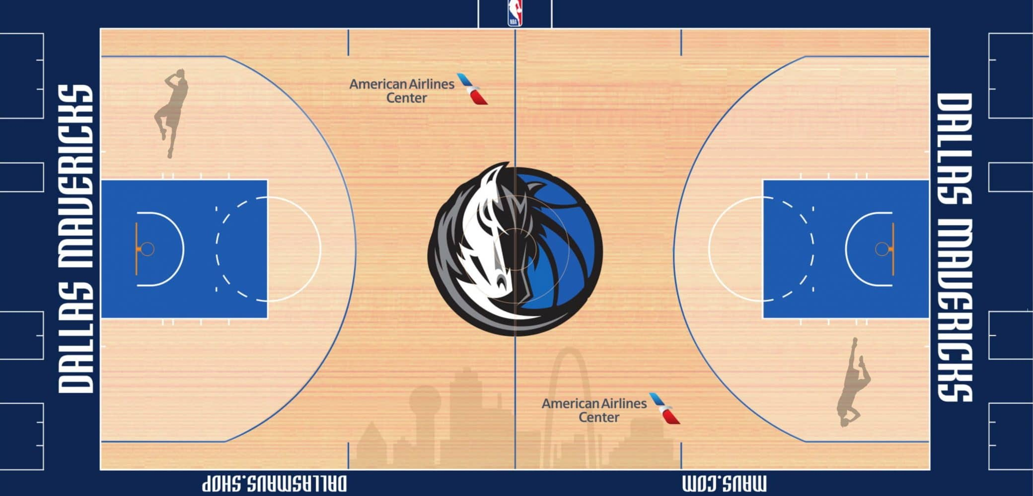 Dirk Nowitzki Dallas Mavericks court