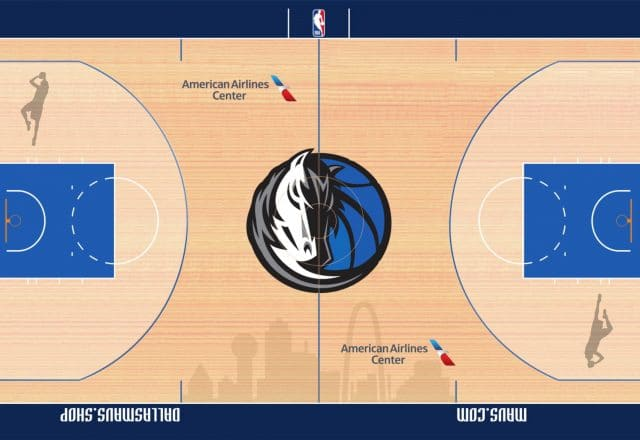 Dirk Nowitzki Dallas Mavericks court