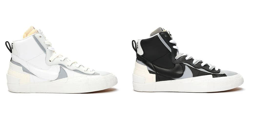 The 'White Grey' & 'Black Grey' Nike Sacai Blazer is Now