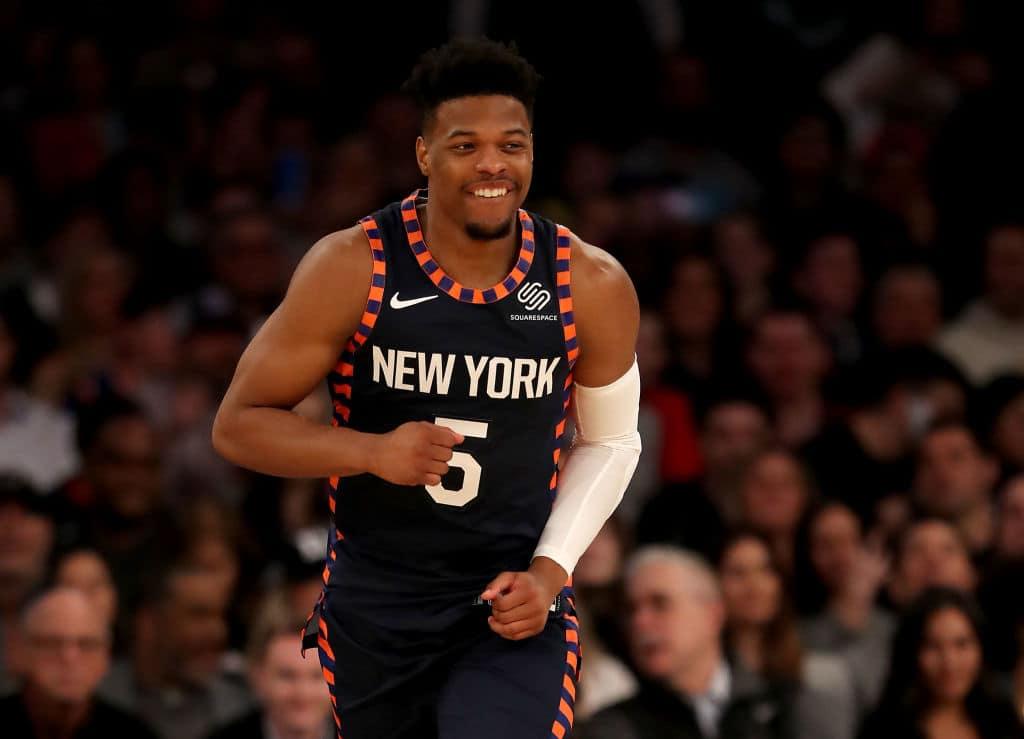 Dennis Smith Jr. of the New York Knicks