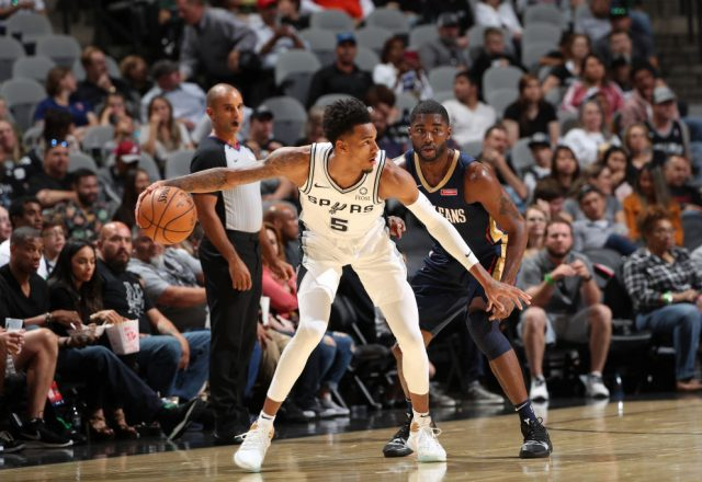 Dejounte Murray of the San Antonio Spurs