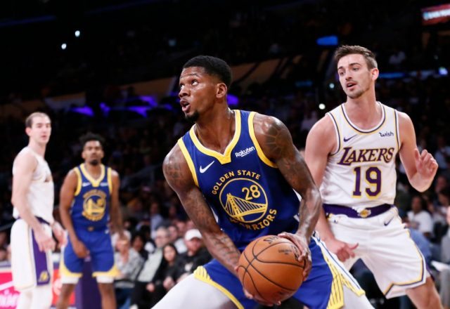 Alfonzo McKinnie of the Golden State Warriors