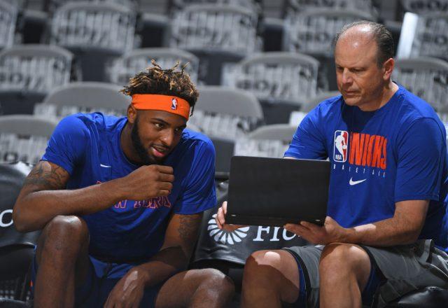 Mitchell Robinson of the New York Knicks