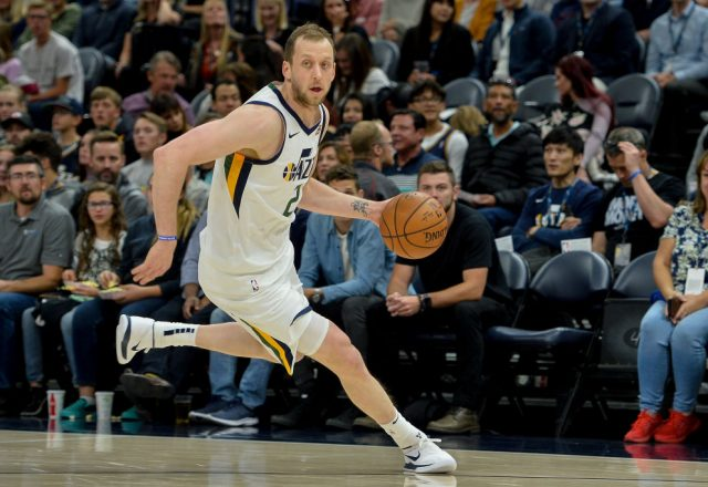 Joe Ingles of the Utah Jazz
