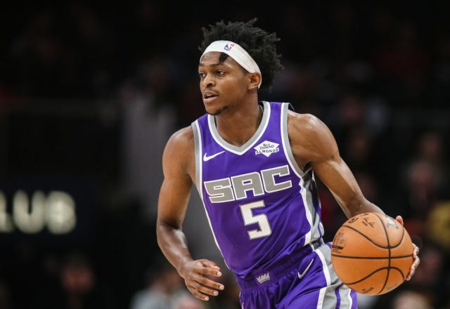 De'Aaron Fox of the Sacramento Kings