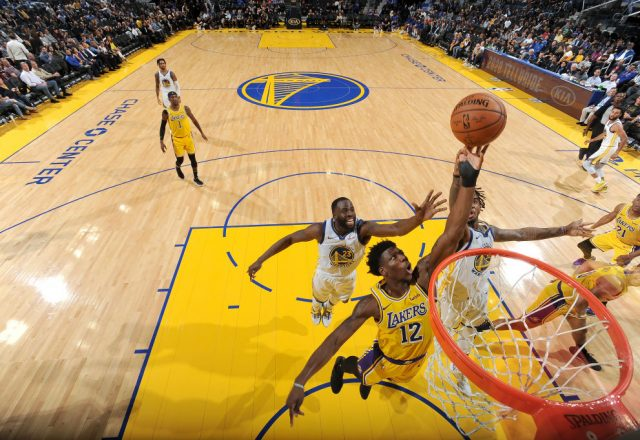 Devontae Cacok of the Los Angeles Lakers
