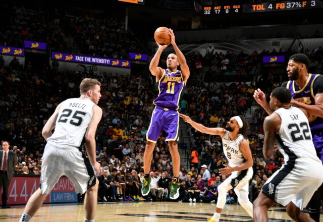 Avery Bradley of the Los Angeles Lakers