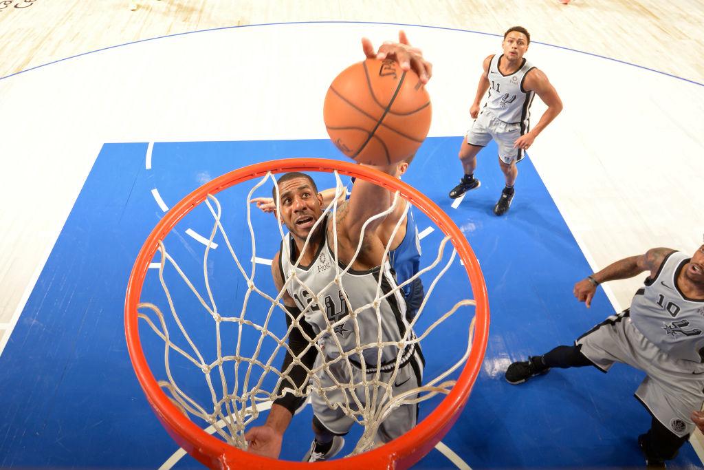 LaMarcus Aldridge of the San Antonio Spurs