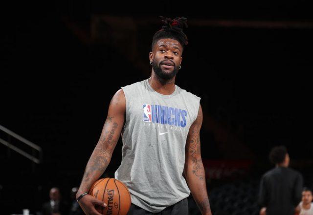 Reggie Bullock of the New York Knicks
