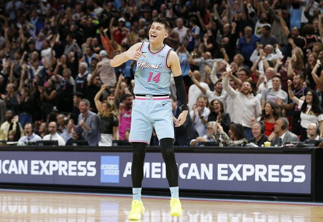 tyler herro heat post up