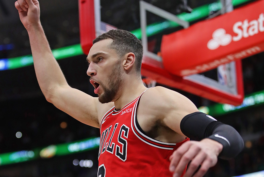zach lavine post up bulls clippers