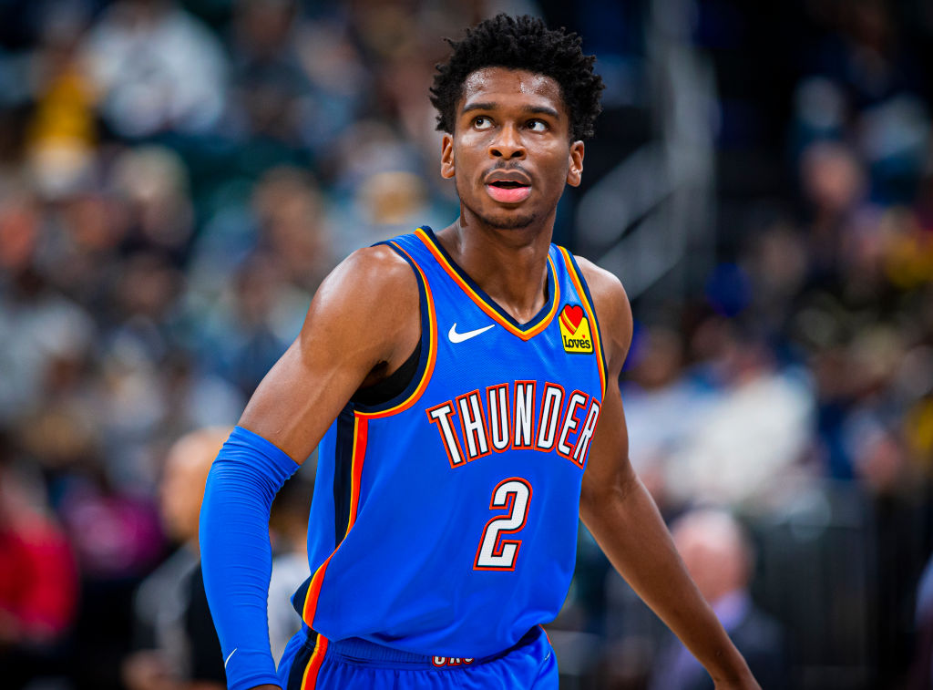 Shai Gilgeous-Alexander of the Oklahoma City Thunder