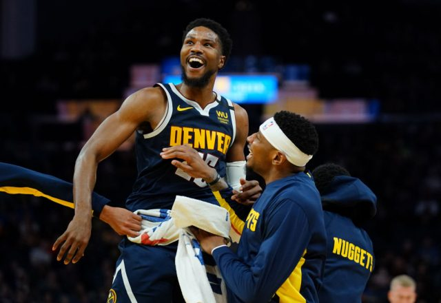 Malik Beasley of the Denver Nuggets