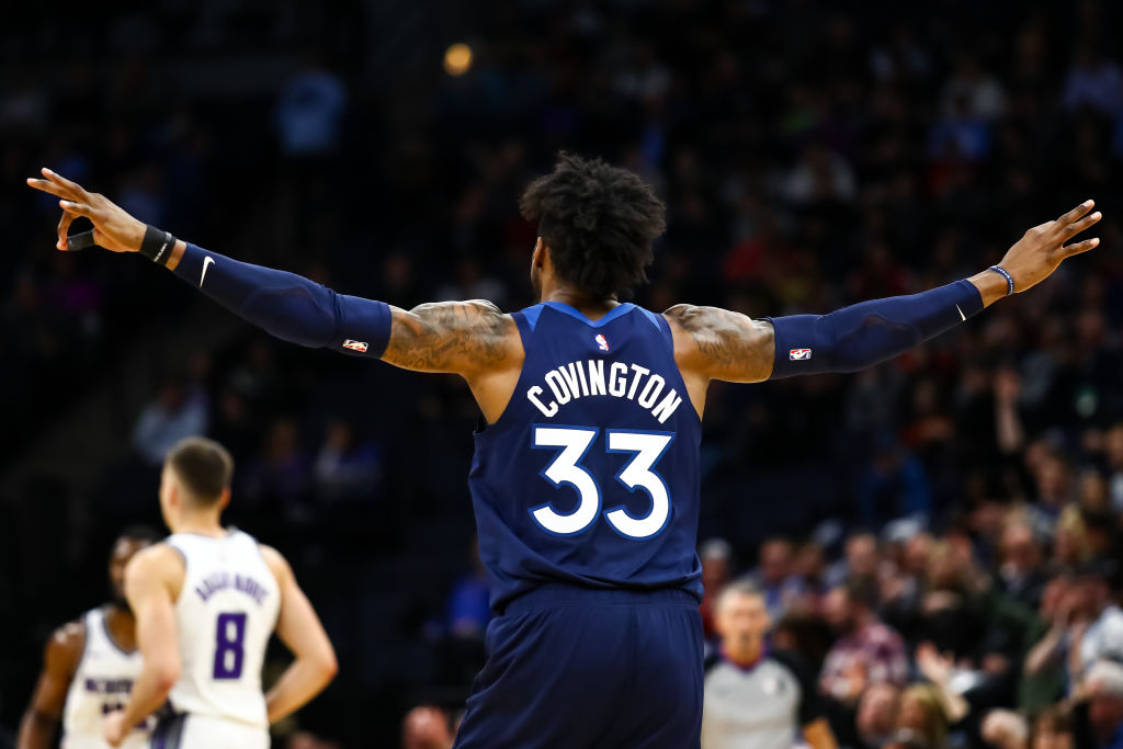 Robert Covington of the Minnesota Timberwolves