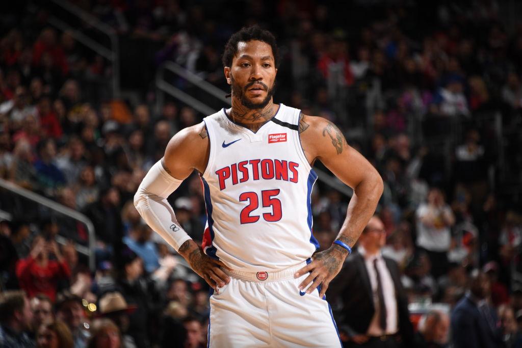 Derrick Rose of the Detroit Pistons