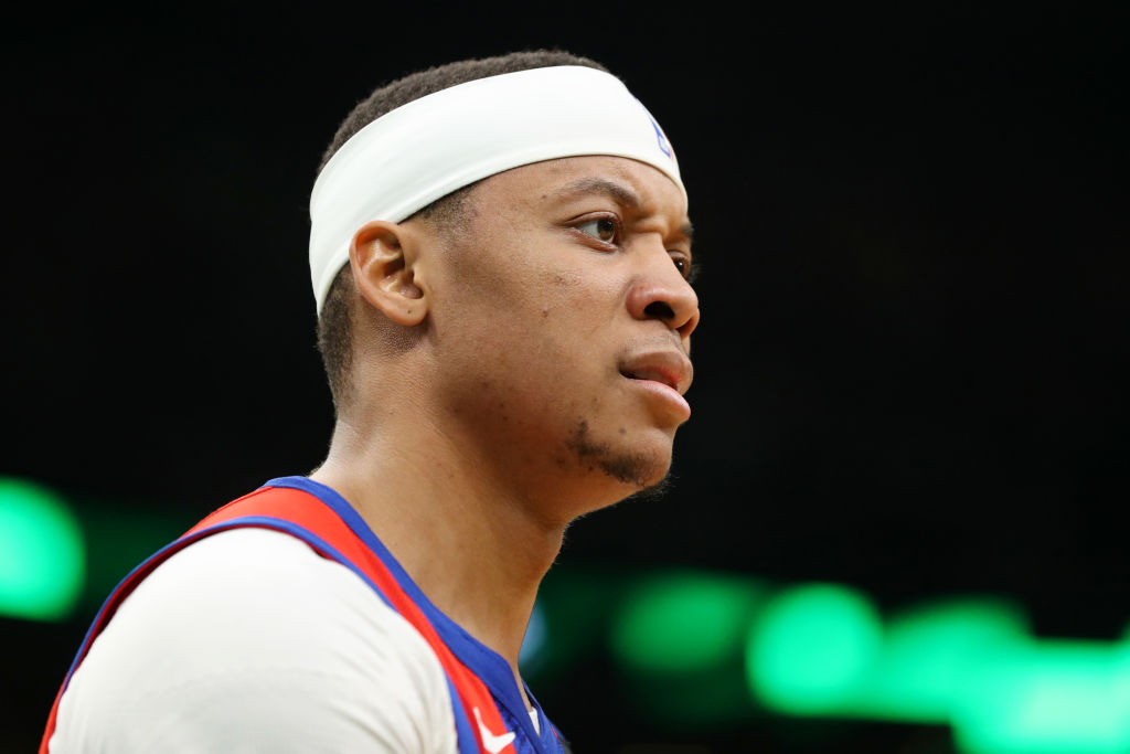 Tim Frazier of the Detroit Pistons