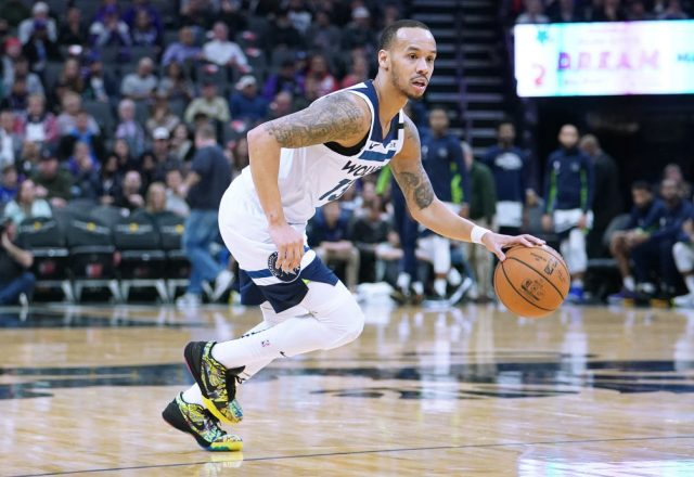 Shabazz Napier of the Minnesota Timberwolves