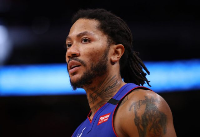 Derrick Rose of the Detroit Pistons