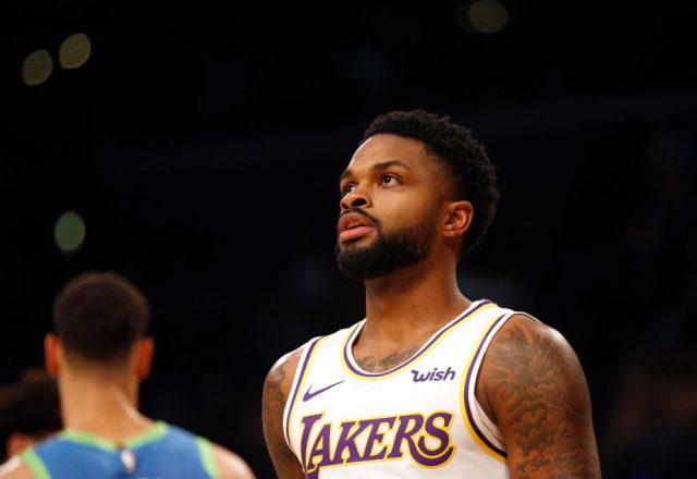 Troy Daniels of the Los Angeles Lakers