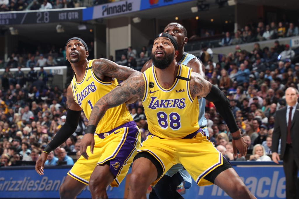 Markieff Morris of the Los Angeles Lakers