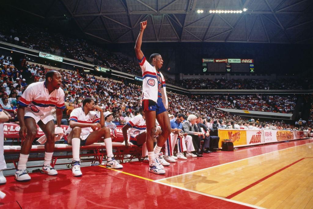 Dennis Rodman of the Detroit Pistons