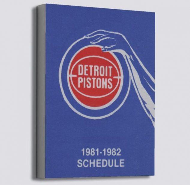 Vintage Detroit Pistons poster