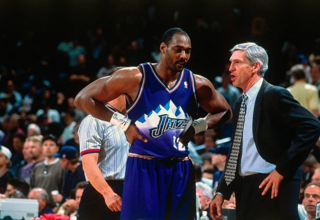 Jerry Sloan, Karl Malone of the Utah Jazz