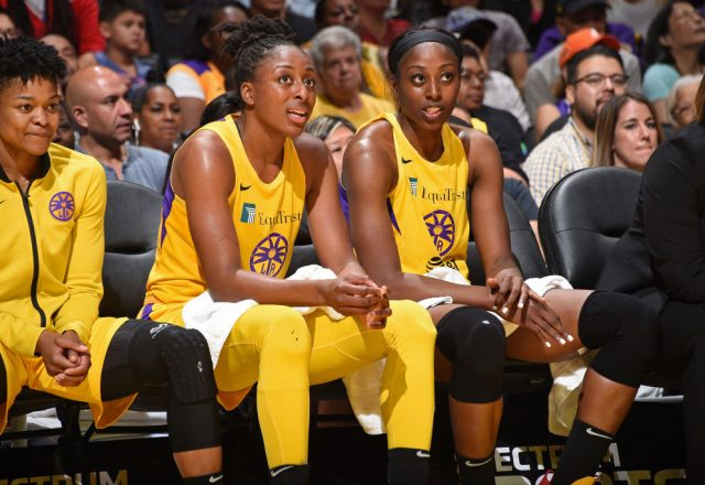 Nneka Ogwumike and Chiney Ogwumike of the Los Angeles Sparks