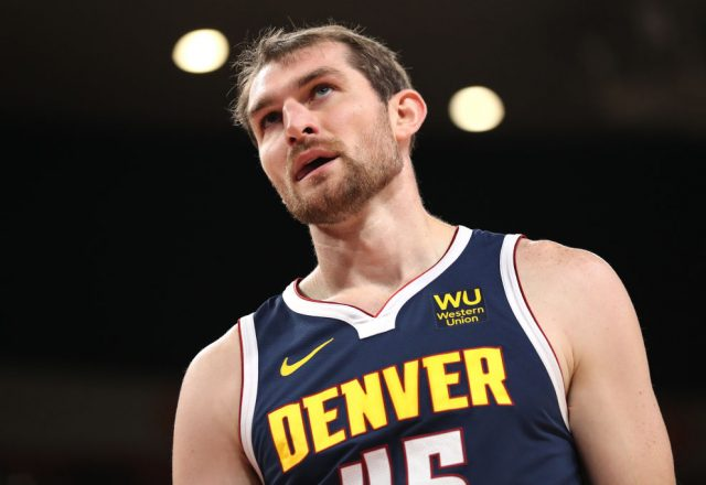 Tyler Zeller of the Denver Nuggets
