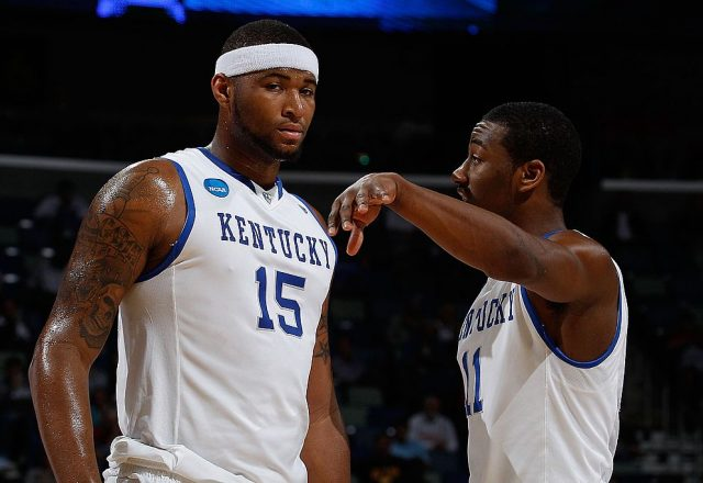 DeMarcus Cousins and John Wall of the Kentucky Wildcats
