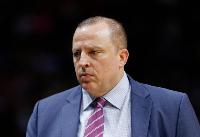 Tom Thibodeau of the New York Knicks