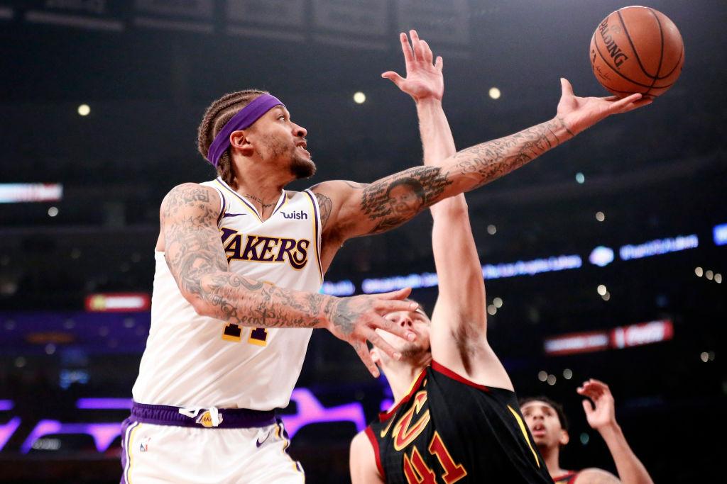 Michael Beasley of the Los Angeles Lakers